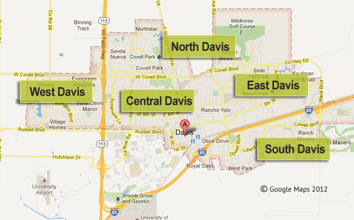 Map Of Davis California | My Blog